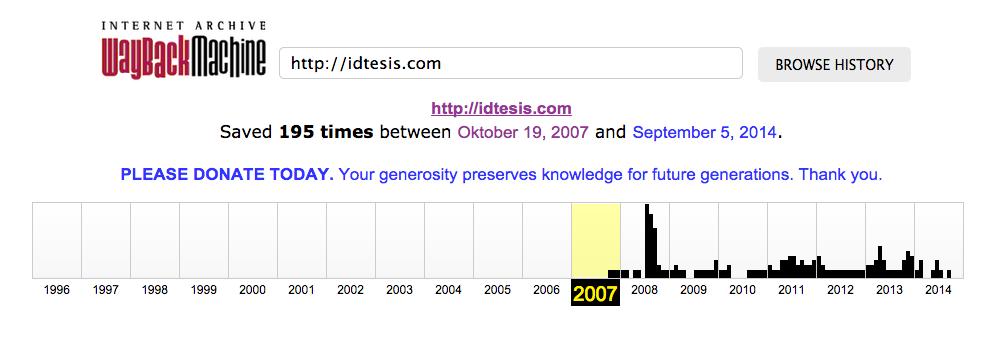 IDTesis.com hadir sejak 2007