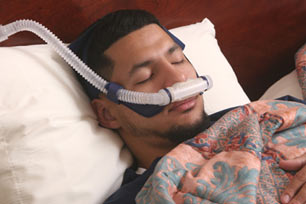Seseorang Yang Menggunakan Alat Bantu Pernafasan