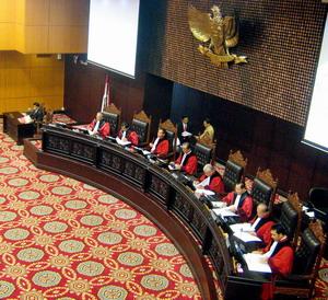 Suasana Sidang Mahkamah Konstitusi