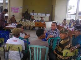 Suasana Pemilihan Anggota Badan Perwakilan Desa