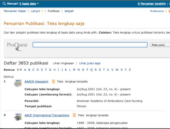 Tampilan Mesin Pencari Jurnal Asing/Internasional Berbayar Jasa Pembuatan Tesis Semarang